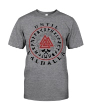 Viking Shirts : Until Valhalla and Rune Classic T-Shirt front