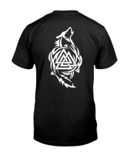 Viking Shirt - Viking Wolf And Valknut Classic T-Shirt thumbnail