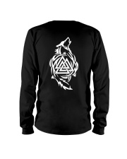 Viking Shirt - Viking Wolf And Valknut Long Sleeve Tee thumbnail