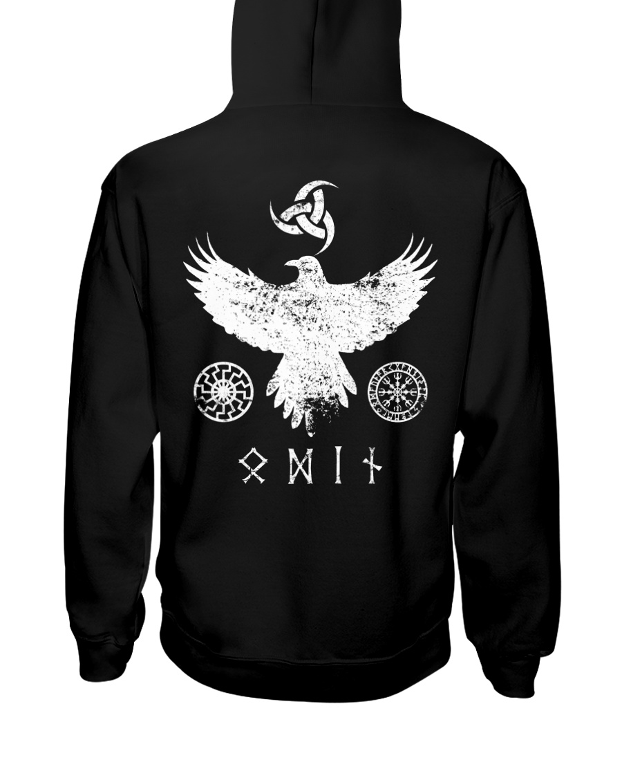 Raven Odin - Viking Shirt Hooded Sweatshirt