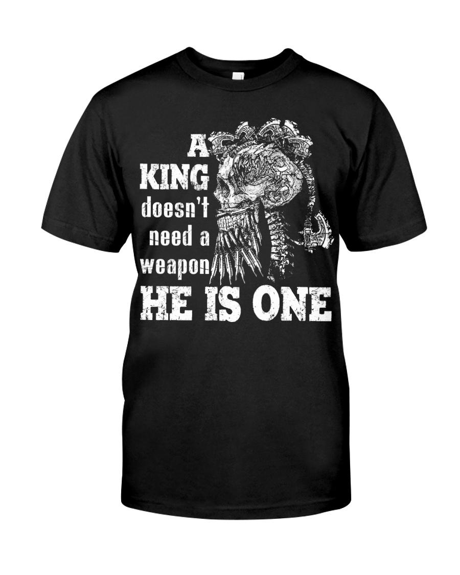Viking Shirt - A King - HE IS ONE Classic T-Shirt