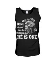 Viking Shirt - A King - HE IS ONE Unisex Tank thumbnail