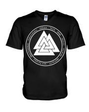 Viking Valknut Mean - Viking Shirt V-Neck T-Shirt thumbnail