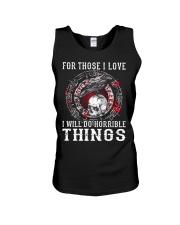 Viking Shirt : I Will Do Horrible Things Unisex Tank thumbnail