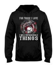 Viking Shirt : I Will Do Horrible Things Hooded Sweatshirt thumbnail
