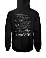 Viking Shirt : Where The Brave May Live Forever Hooded Sweatshirt back