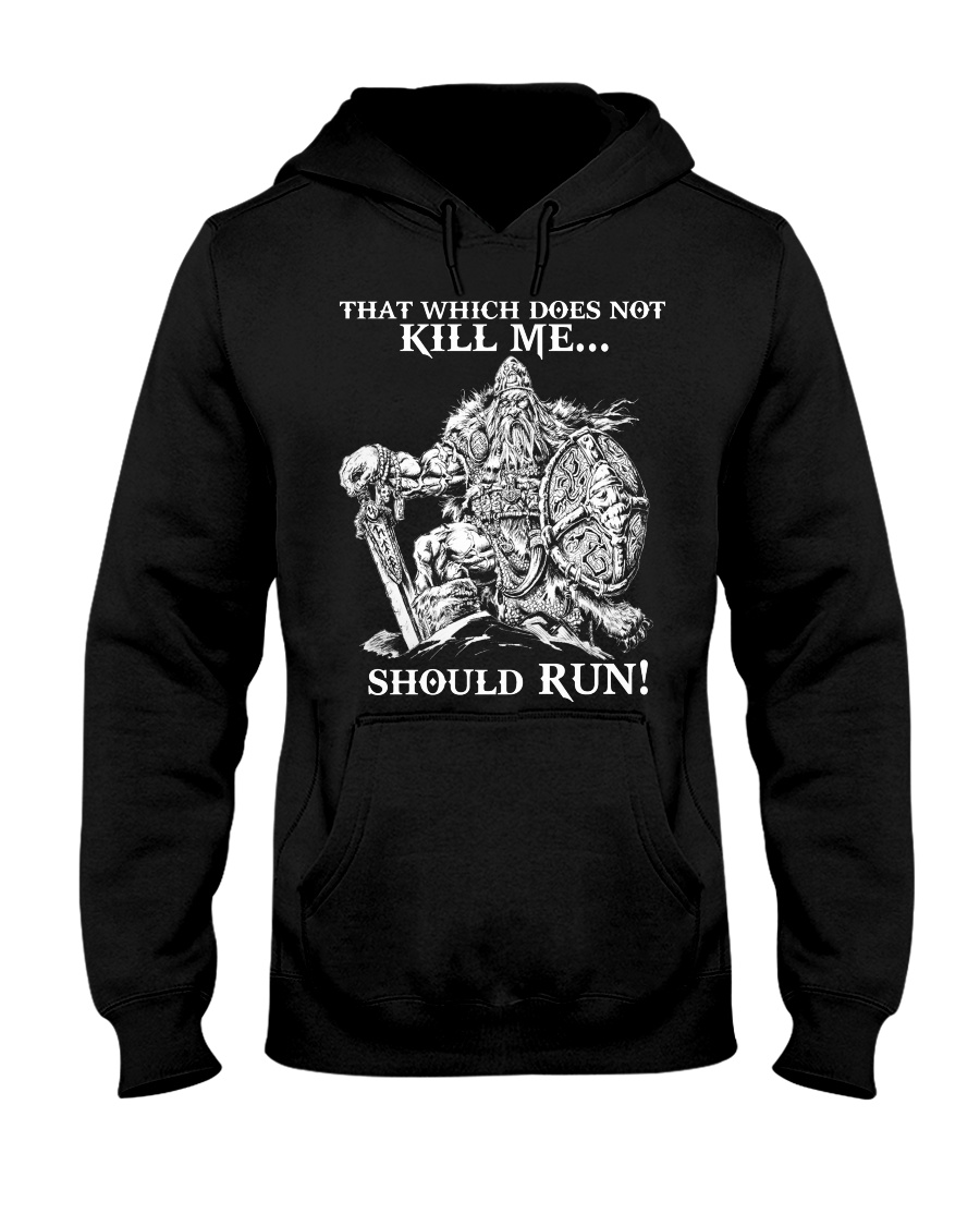 Viking Shirt : Where The Brave May Live Forever Hooded Sweatshirt