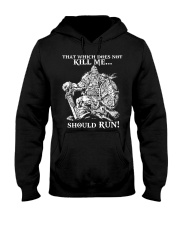 Viking Shirt : Where The Brave May Live Forever Hooded Sweatshirt front