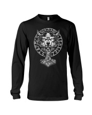 VEGVISIR WOLF HAMMER - VIKING T-SHIRTS Long Sleeve Tee tile