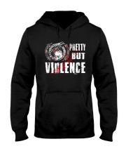 Viking Shirt : Pretty But Violence Hooded Sweatshirt thumbnail