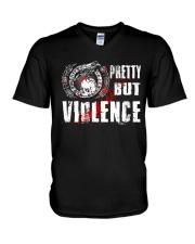Viking Shirt : Pretty But Violence V-Neck T-Shirt thumbnail