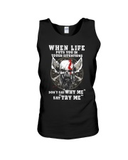 Viking Shirt - Don't say ''Why Me'' say ''Try Me'' Unisex Tank tile