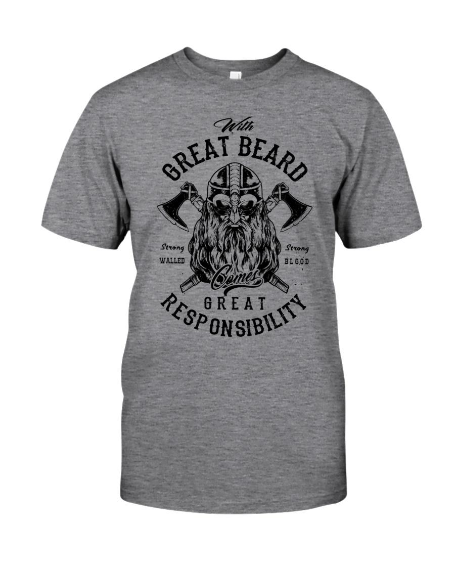 Viking Shirt : Great Beard - Great Responsibility Classic T-Shirt