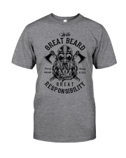 Viking Shirt : Great Beard - Great Responsibility Classic T-Shirt front