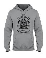 Viking Shirt : Great Beard - Great Responsibility Hooded Sweatshirt thumbnail