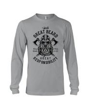 Viking Shirt : Great Beard - Great Responsibility Long Sleeve Tee thumbnail