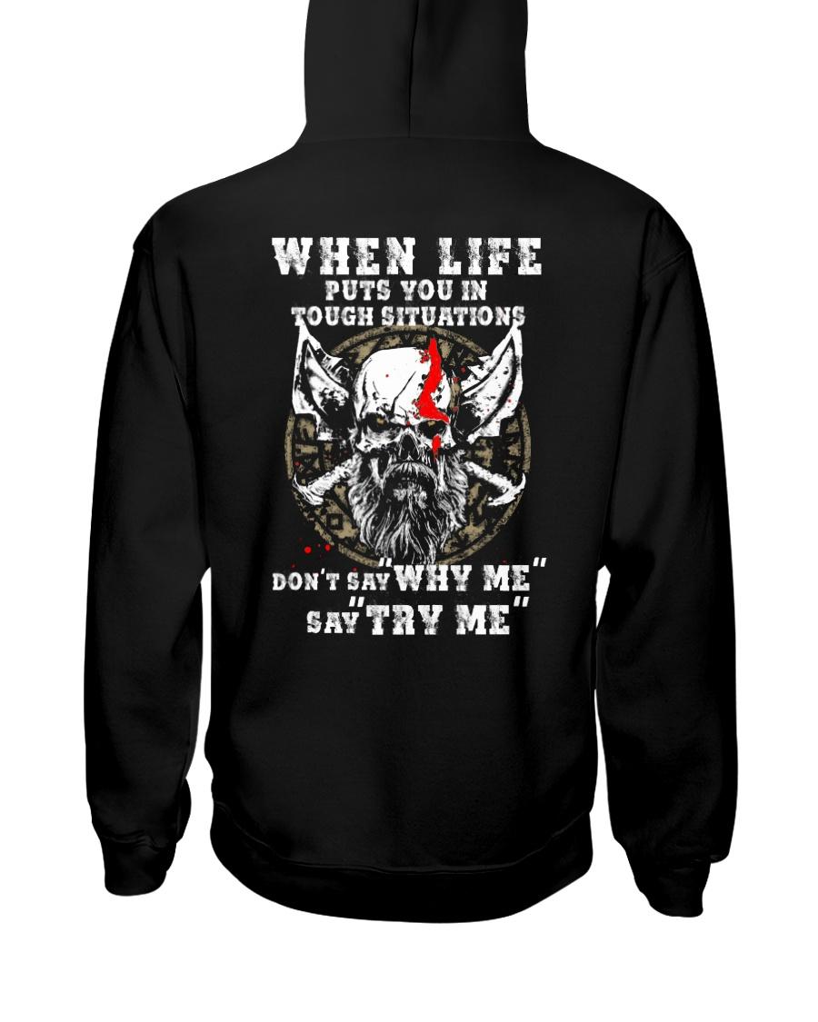 Say Try Me - Viking Shirt Hooded Sweatshirt