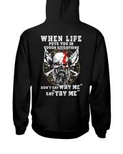 Say Try Me - Viking Shirt Hooded Sweatshirt back