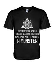 What It Needs Is A Monster - Viking Shirt V-Neck T-Shirt thumbnail