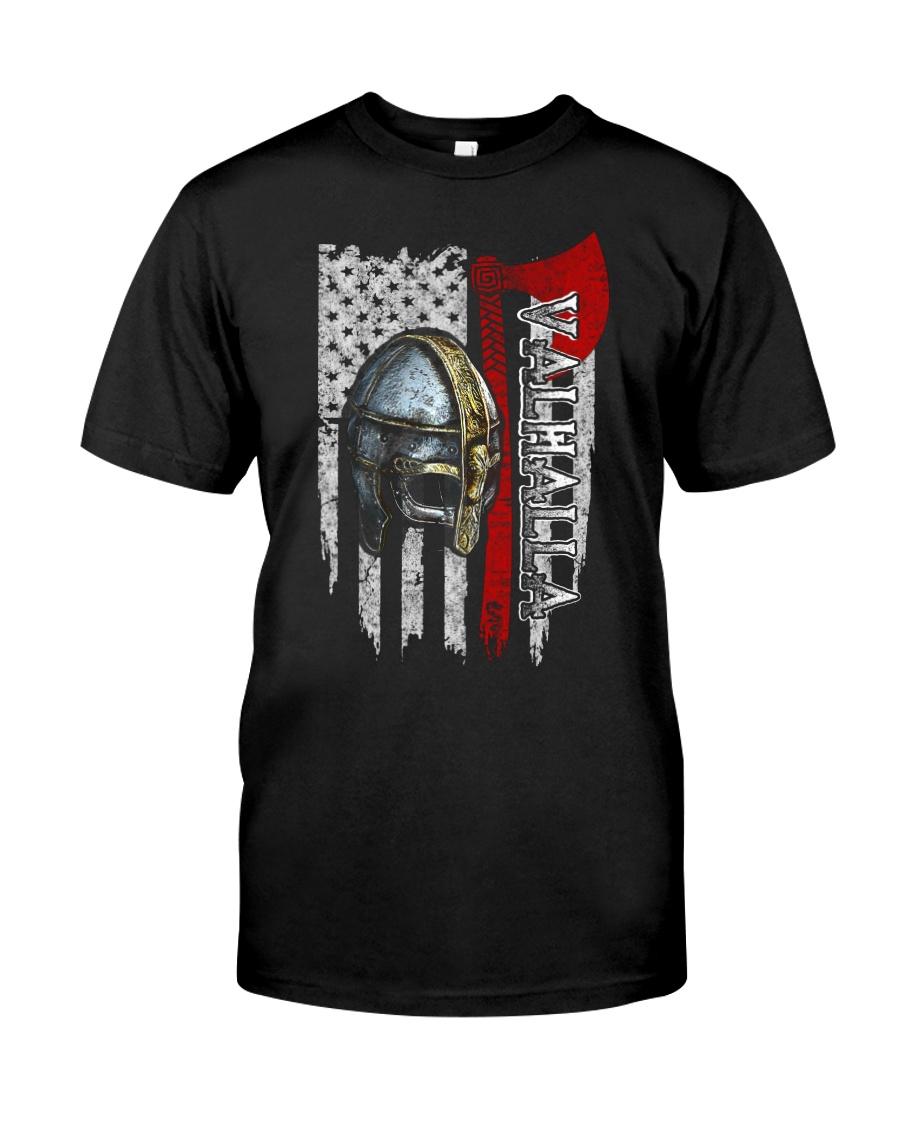 Flag Helmet Valhalla - Viking shirt Classic T-Shirt