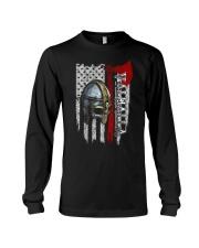 Flag Helmet Valhalla - Viking shirt Long Sleeve Tee thumbnail