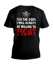 Be Willing To Fight - Viking Shirt V-Neck T-Shirt thumbnail