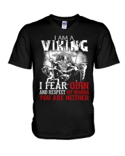 I Fear Odin And Respect My Woman You Are Neither V-Neck T-Shirt tile