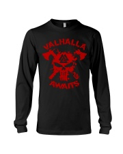Viking Shirt : Valhalla Awaits Long Sleeve Tee thumbnail