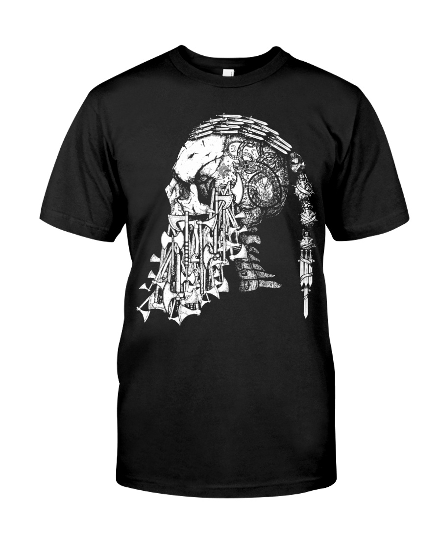 Viking Shirt - Viking Weapon Skull Classic T-Shirt