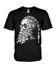 Viking Shirt - Viking Weapon Skull V-Neck T-Shirt thumbnail