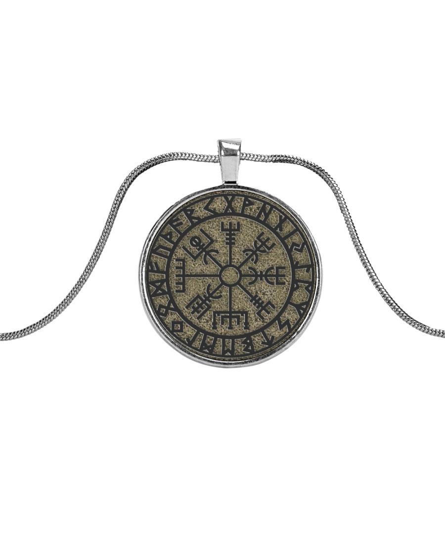 VIKING VEGVISIR Metallic Circle Necklace