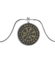 VIKING VEGVISIR Metallic Circle Necklace front