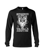 Viking Shirt : Berserker Valhalla Awaits Me Long Sleeve Tee thumbnail