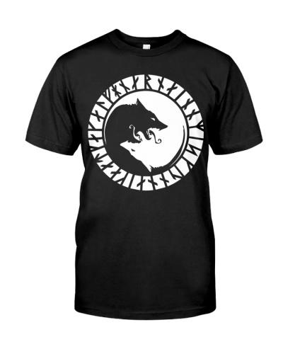Yin Yang Wolf Viking - Viking Shirts