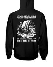 I Am The Storm - Viking Shirt Hooded Sweatshirt back