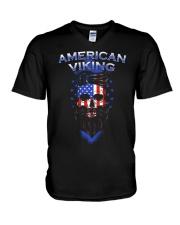Viking Shirt : American Viking V-Neck T-Shirt tile
