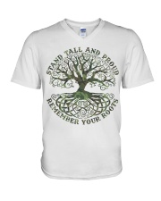 Viking Shirt - Stand Tall And Proud V-Neck T-Shirt tile