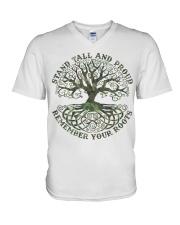 Viking Shirt - Stand Tall And Proud V-Neck T-Shirt thumbnail