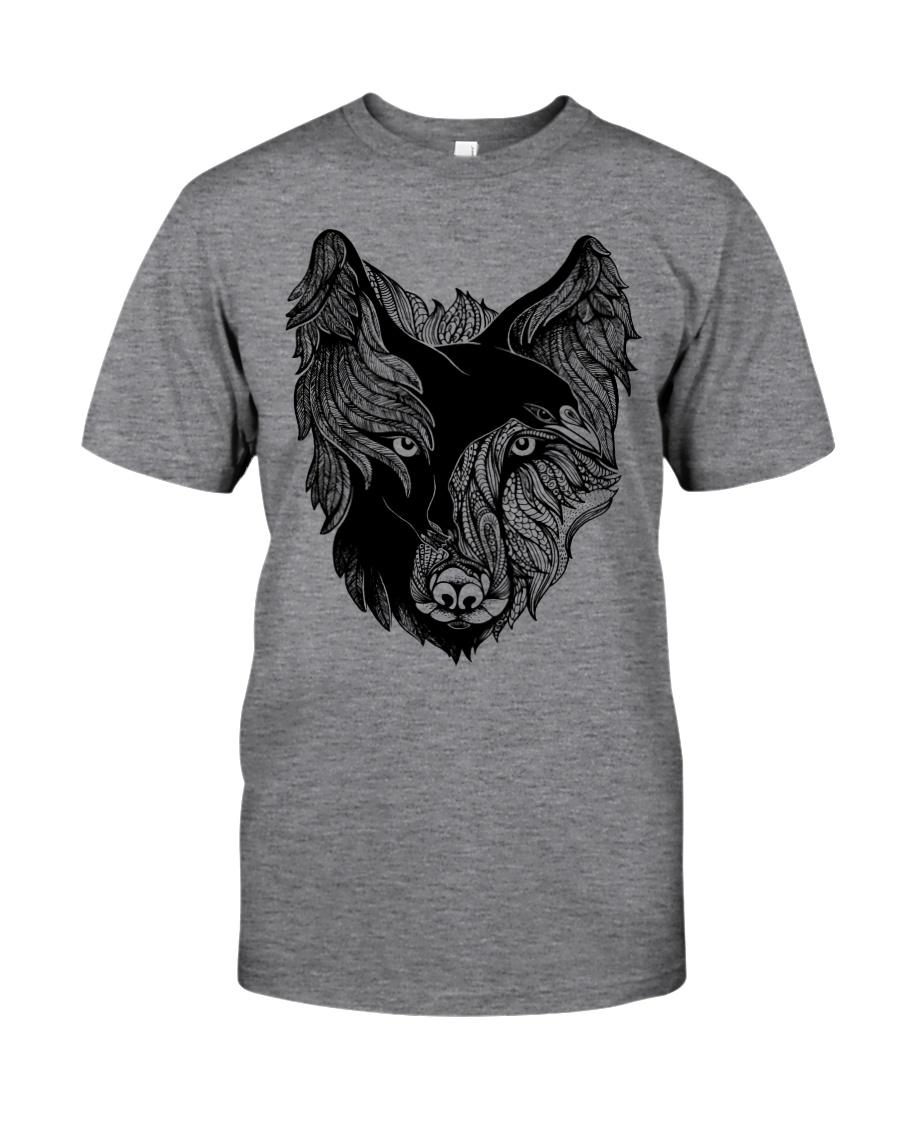 Viking T-shirts - Raven And Wolf Classic T-Shirt