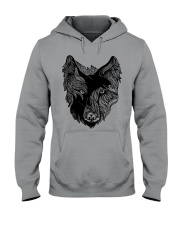 Viking T-shirts - Raven And Wolf Hooded Sweatshirt tile