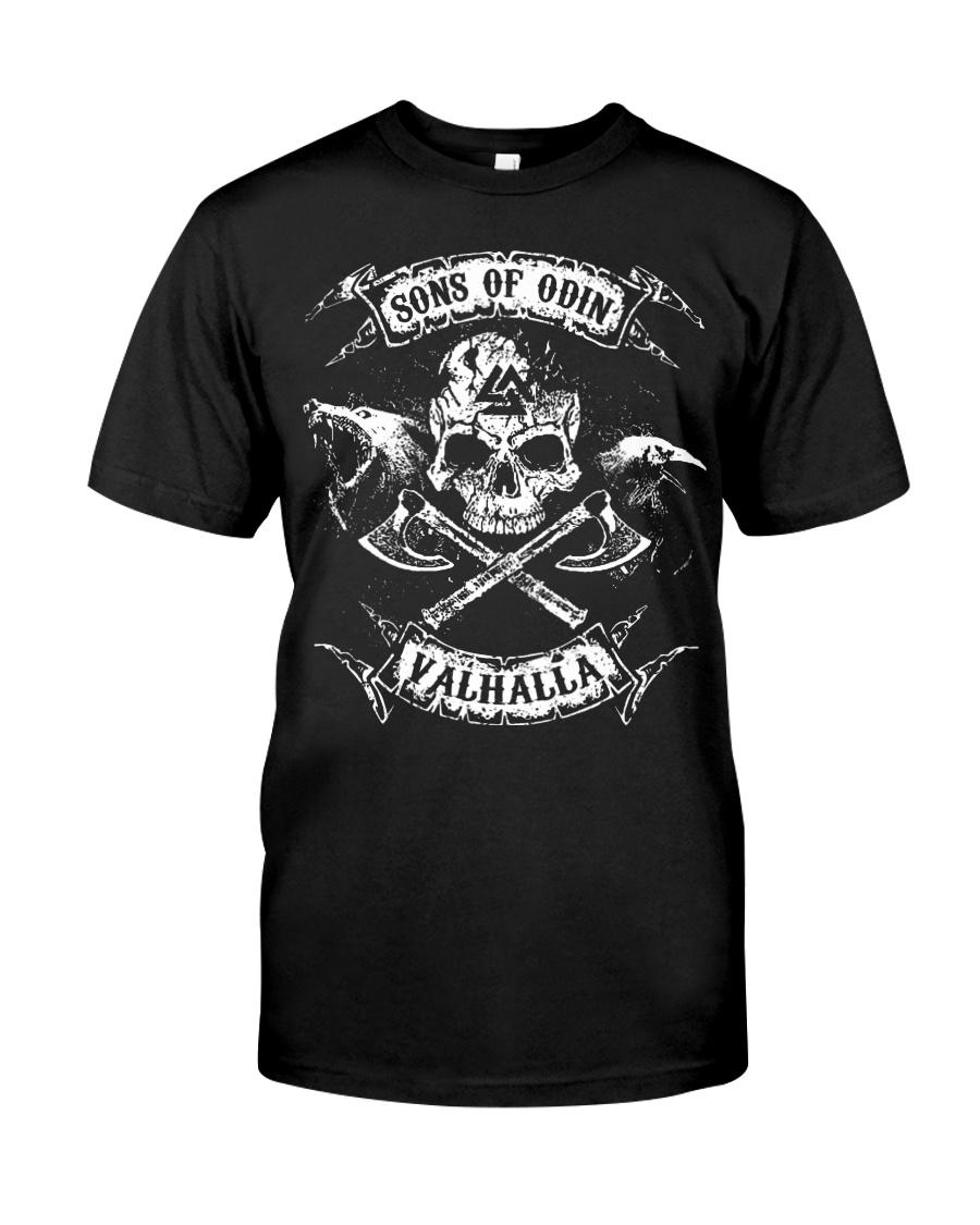 Viking Shirt - Sons of Odin Raven Wolf Classic T-Shirt