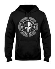 Till Valhalla Never Kneel - Viking Shirt Hooded Sweatshirt thumbnail