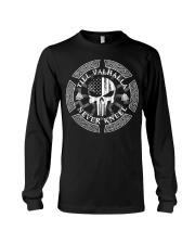 Till Valhalla Never Kneel - Viking Shirt Long Sleeve Tee thumbnail