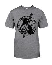 Viking Shirts : Raven Viking Vegvisir Classic T-Shirt tile