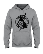 Viking Shirts : Raven Viking Vegvisir Hooded Sweatshirt thumbnail