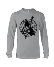 Viking Shirts : Raven Viking Vegvisir Long Sleeve Tee thumbnail