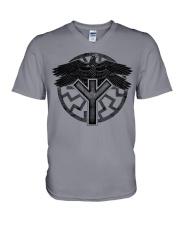 Viking Shirts : Huginn and Muninn : Raven Viking V-Neck T-Shirt thumbnail