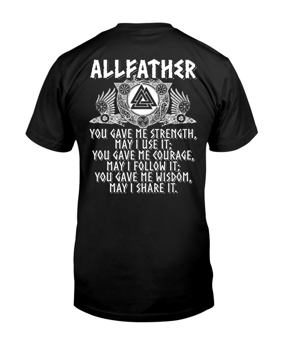 Viking Shirt : Allfather Viking Odin Classic T-Shirt