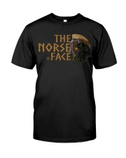 The Norse Face - Odin Raven - Viking Shirt Classic T-Shirt front