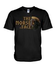The Norse Face - Odin Raven - Viking Shirt V-Neck T-Shirt tile